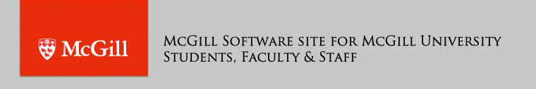McGill Software Site for Students, Faculty, & Staff