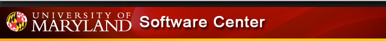 University of Maryland - Software Center