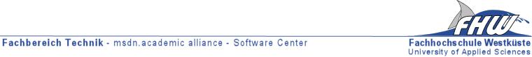Fachhochschule Westküste - Fachbereich Technik - Microsoft Imagine Premium
