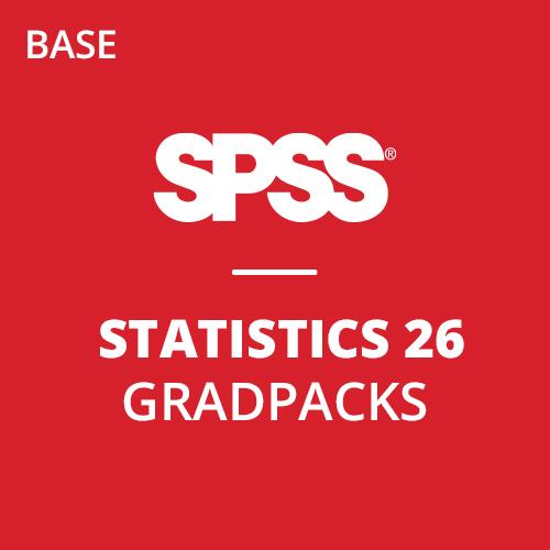 IBM® SPSS® Statistics Base GradPack 26 for Windows (12-Mo Rental)