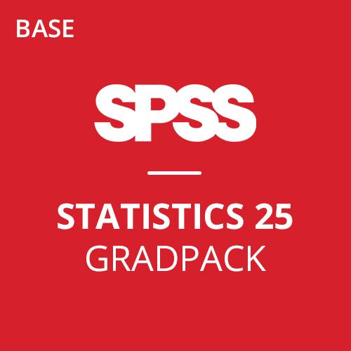 IBM® SPSS® Statistics Base GradPack 25 for Windows (12-Mo Rental)