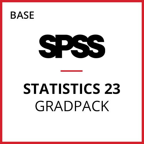 IBM® SPSS® Statistics Base GradPack 23 for Windows (12-Mo Rental)