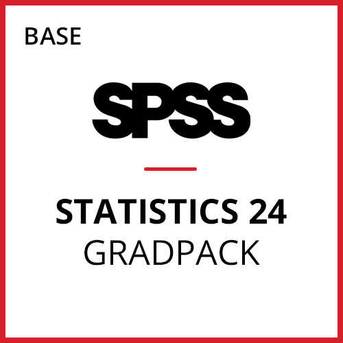 IBM® SPSS® Statistics Base GradPack 24 for Windows (06-Mo Rental)