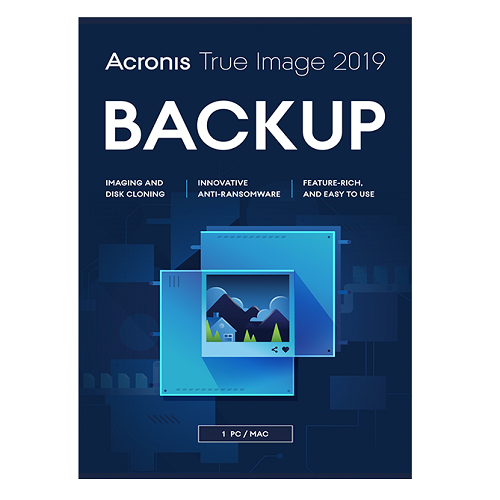 Acronis True Image 2019 1 Computer + 250 GB Acronis Cloud Storage  (1-year subscription)